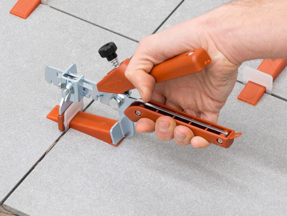 Tegel Leveling Systeem : Tegel nivellering kit vloertang spieën en clips intermat